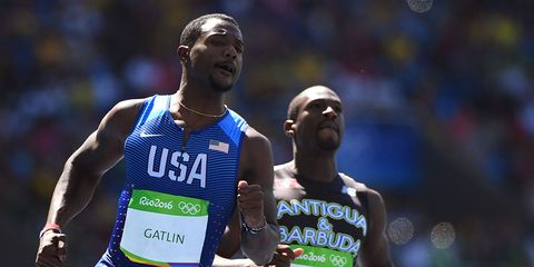 Justin Gatlin at the 2016 Olympics