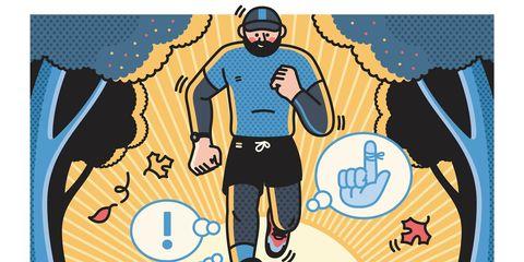 illustration of returning runner