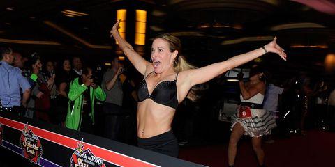 Event, Entertainment, Party, Dancer, Logo, Thigh, Abdomen, Dance, Stomach, Go-go dancing,