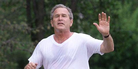 Media: Running With President George Bush