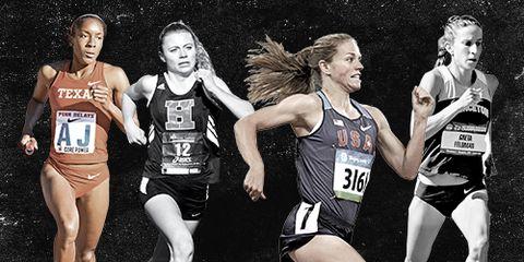 Haddonfield High School Runners Marielle Hall, Briana Gess, Erin Donohue, Greta Feldman