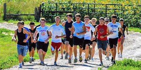media: High School summer training