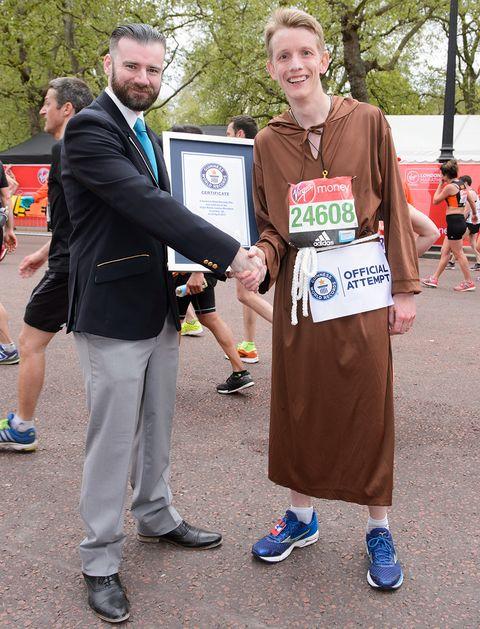 Fastest marathon dressed as a monk