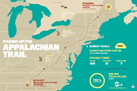 Hiking Appalachian Trail Map on