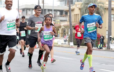 Meb Keflezighi and his daughter Sara