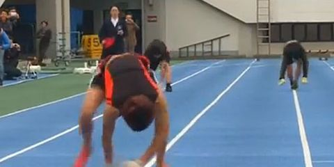 Kenichi Ito on All Fours 100 Meters