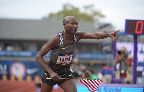 Lagat after winning the 5,000