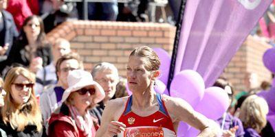 Russian marathoner Mariya Konovalova