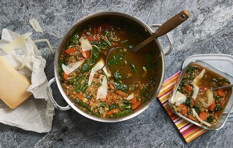 tuscan red lentil soup
