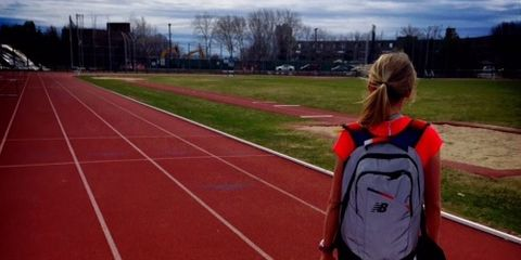 Liz Costello at the Track