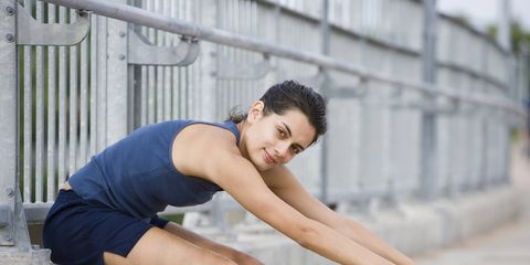 Runner sitting on steps with 300x150