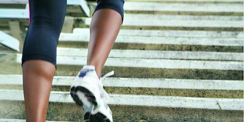 legs running up stairs