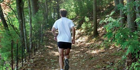 master runner on trail