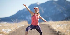 Melody Fairchild doing yoga