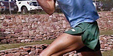 mid-body shot of runner
