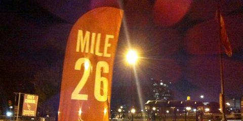 Philadelphia Marathon, Mile 26