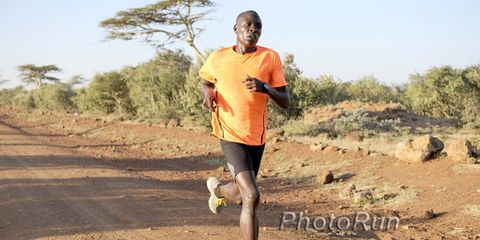 Moses Mosop training in Kenya
