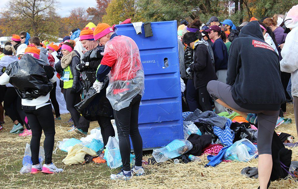 What Happens to the Tons of Discarded Clothing at the NYC Marathon ... 775c6b5a02