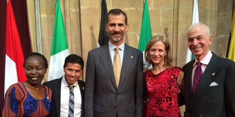 NYRR officials with the King of Spain