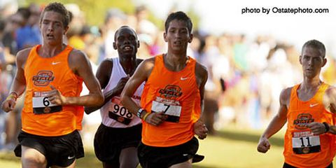 Oklahoma State boys cross country runners