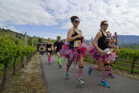 Sunglasses, Goggles, Ballet tutu, Plantation, Costume, Vineyard, Agriculture, Pole, Long-distance running, Running,