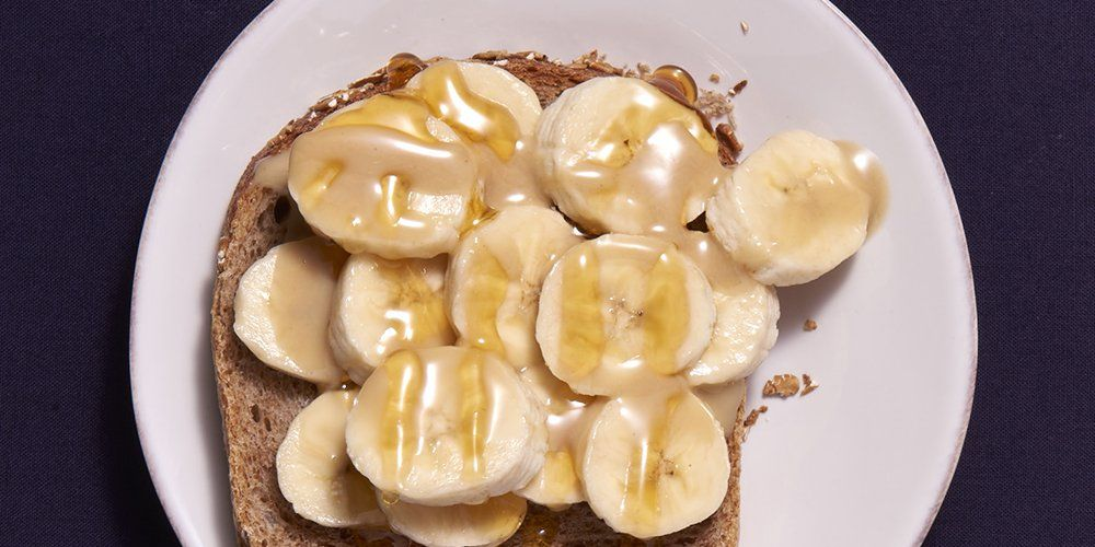 open faced sandwich with bananas
