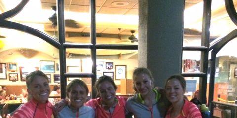 Liz Costello and Teammates at Payton Jordan