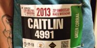 Cait's Philly Marathon Bib