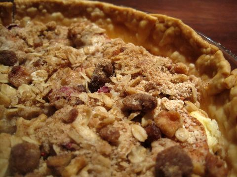 Apple Cranberry Pie with Cream Cheese