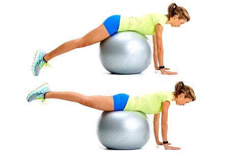model doing reverse hip raise