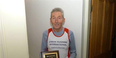 Ron Hill 50 Year Run Plaque
