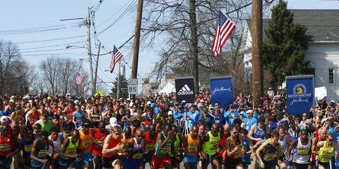 Men's start of the 2014 Boston Marathon