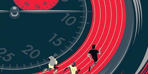 runners on track illustration