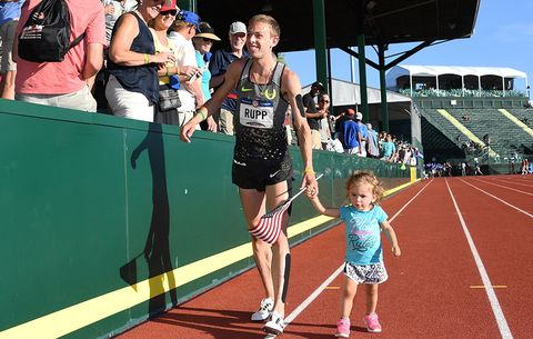 Galen Rupp and his daughter