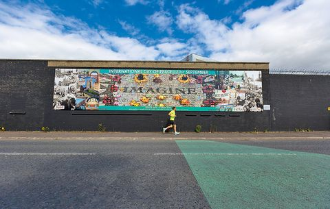 running the world belfast peace wall