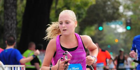 Recreation, Endurance sports, Running, Sportswear, Pink, Athlete, Outdoor recreation, Long-distance running, Racing, Individual sports,