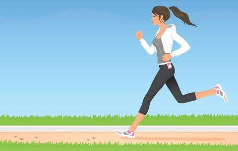 Illustration of a runner