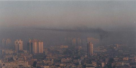 Smog over Shanghai, China