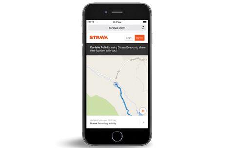 strava beacon app safety gear