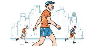 runners taking walk breaks