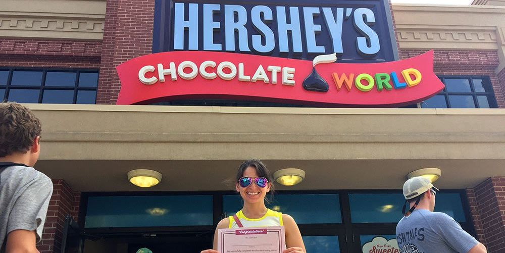 Chocolate taster at Hershey's