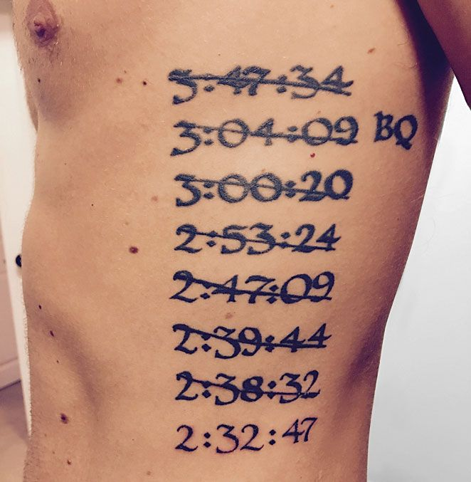 running tattoos