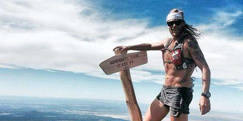 Tim Olson training in Flagstaff