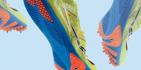 track spikes up close