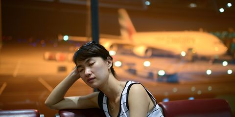 woman suffering from travel fatigue