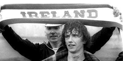 John Treacy after winning the 1978 world cross country championship