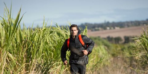 People in nature, Grass family, Grassland, Flowering plant, Agriculture, Active pants, Adventure, Shrubland, Field, Running,