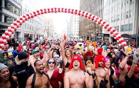 Runners at the Cupid's Undie Run