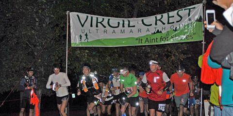 Start of Virgil Crest Ultramarathon