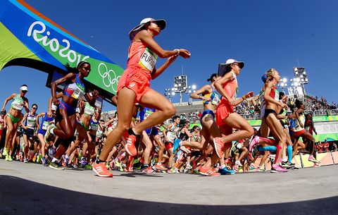 Start of the women's Olympic marathon